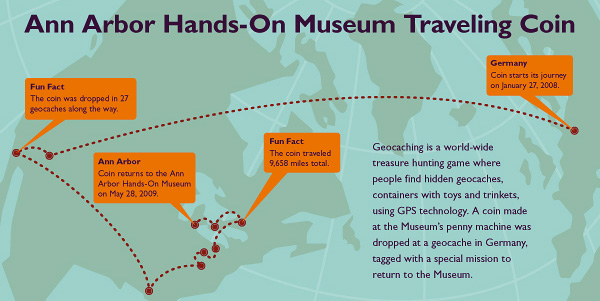 Ann Arbor Hands-On Museum Geocatching Interactive Map