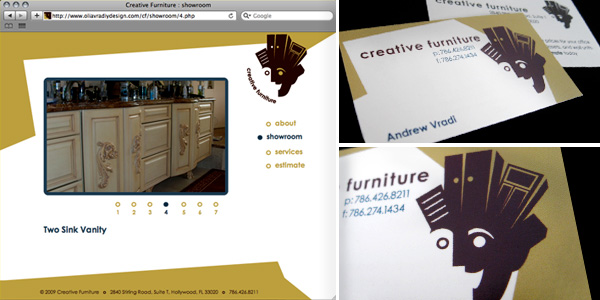 Creative Furniture Identity Package and Website