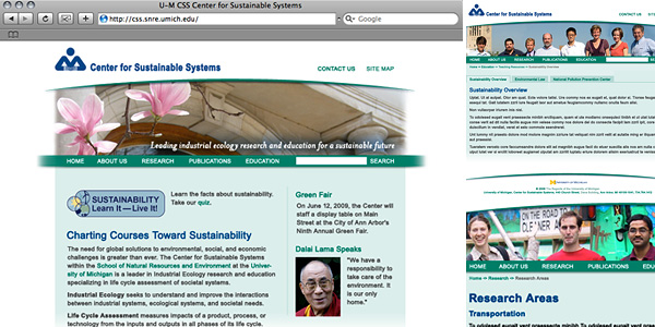 Center for Sustainable System Website